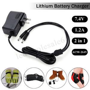1-2A-220V-7-4V-2In1-Lithium-Batterie-Ladegeraet-fuer-Elektrische-Handschuhe-Schuhe