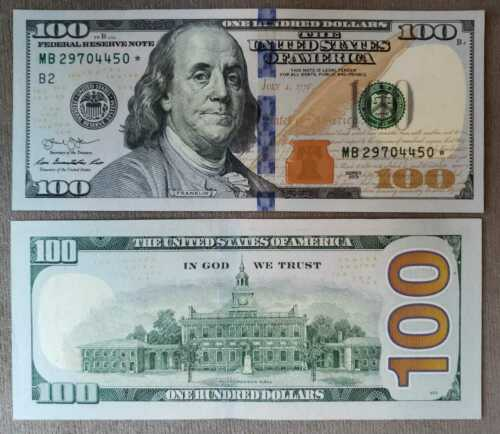 USA 100 Dollars 2013 P 543 UNC - REPLACEMENT STAR NOTE NEW York