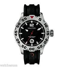 Nautica BFD 100 Date Black Dial Black Band N14600G Watch