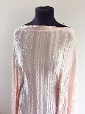 Shimmering Shell Ice Pink Crush Stretch Light Satin Dressmaking Fabric SS-2017