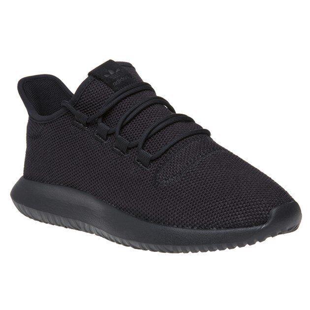 New Mens adidas Black Tubular Shadow Nylon Trainers Running Style Lace Up