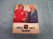 NHL 1970-1971 OFFICIAL GUIDE & RECORD BOOK Gordie Howe Cover HOCKEY