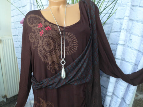 978 46 bis 58 braun gemustert Joe Browns Kleid Jerseykleid Damen Gr NEU
