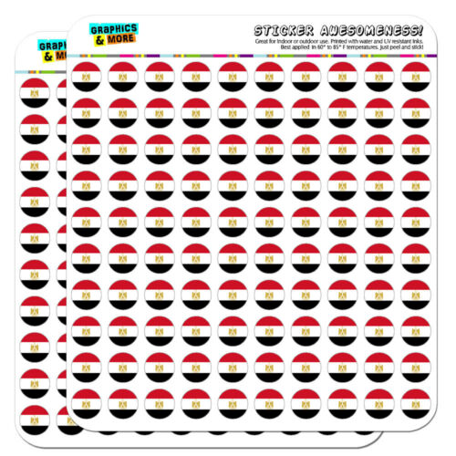 """Egypt National Country Flag 0.5/"""" Scrapbooking Crafting Stickers"""