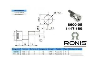 Serrure à entraînement RONIS 6600-05 Demi-tour à Droite