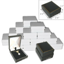 24pc Earring Gift Boxes For Pendant Necklace Box Black Leatherette Jewelry Box