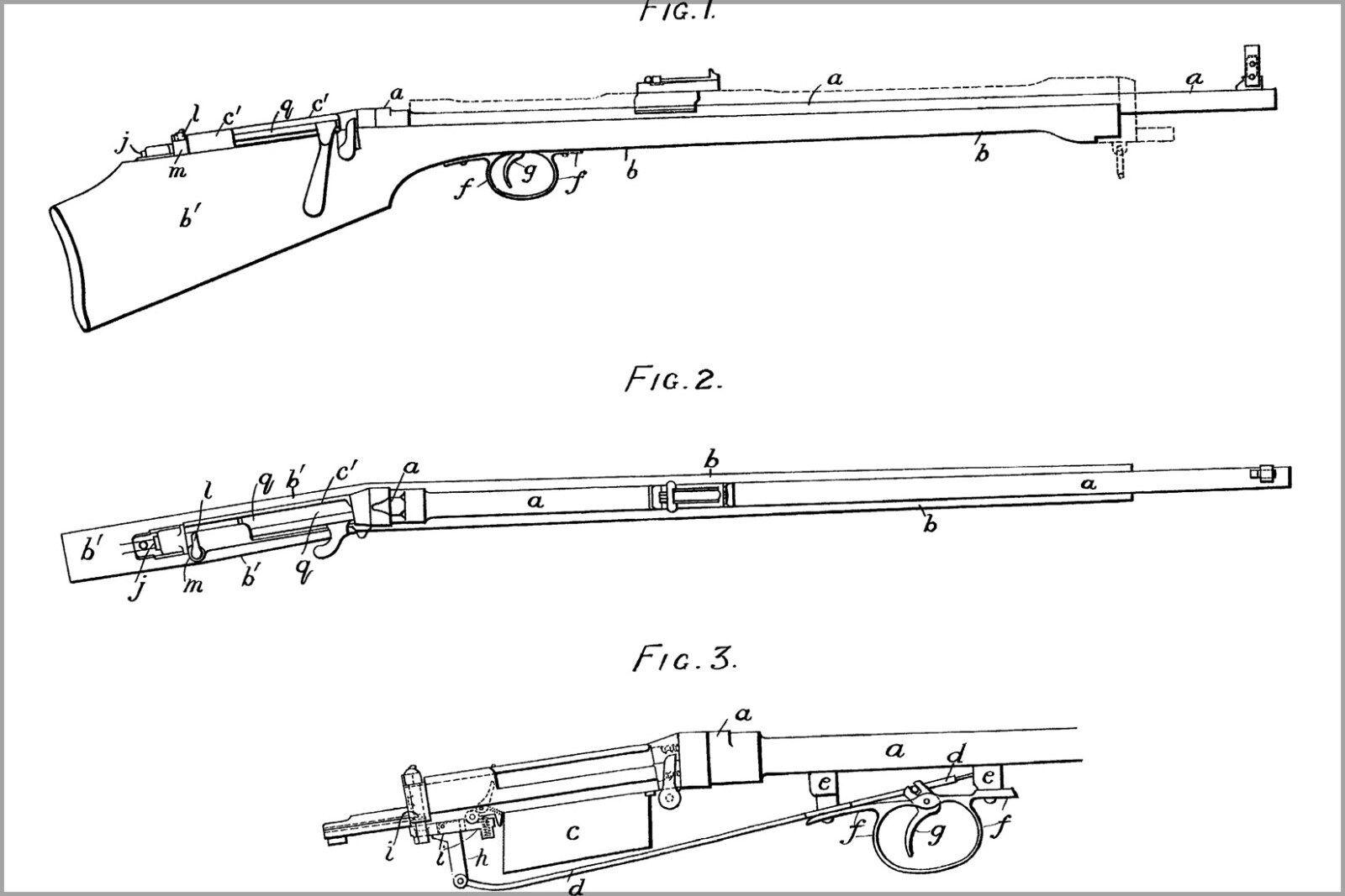 Plakat, Viele Größen; Thorneycroft Karabiner, Patent 14622 Juli 18, 1901
