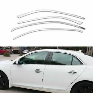 Full-Windows-Molding-Trim-Decoration-Strips-Pillar-For-Chevrolet-Malibu-2013-15