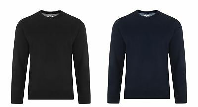 Hell Kam Cotton Rich Fleece Crew Neck Sweat Top In Size 2xl To 8xl, 2 Color Options