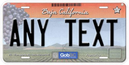 Baja California Mexico Any Text Personalized Novelty Auto Car License Plate C07