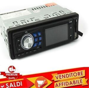 STEREO-AUTO-BLUETOOTH-AUTORADIO-FM-MP3-USB-SD-AUX-FRONTALINO-ESTRAIBILE-45WX4