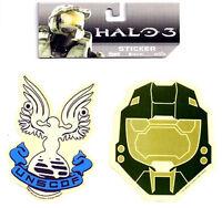 Halo 3 War Game Unscdf & Helmet Sticker Set Of 2