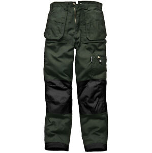 Da Uomo Dickies WD814 Redhawk AZIONE LAVORO Workwear Pantaloni Pantalone Nero Blu Scuro