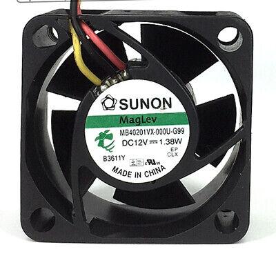 SUNON DC Fan MagLev MB40201VX-0000-G99 40x40x20mm DC12V 1.38W NEW