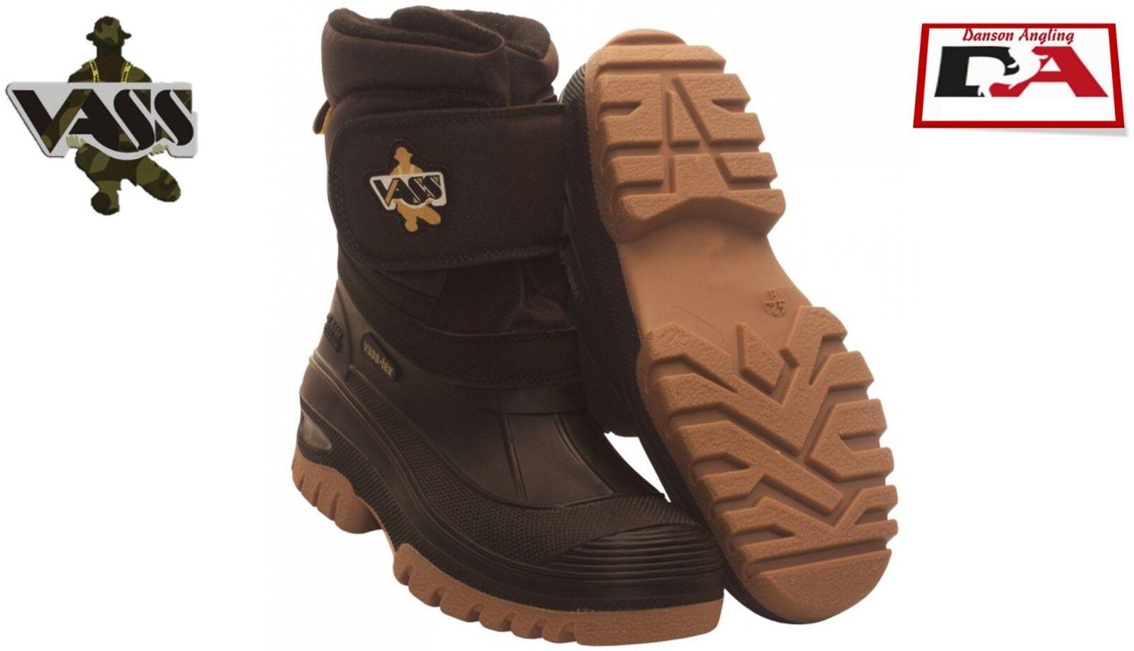 Vass Fleeced Lined Velcro Boots Size 8 New