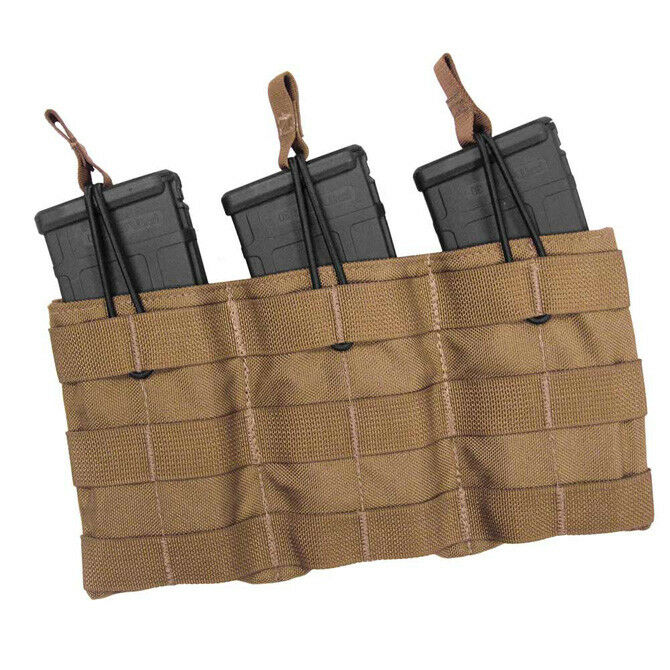 Tac Shield Triple Speed Load MOLLE Rifle Mag Pouch Coyote Brown USA Made