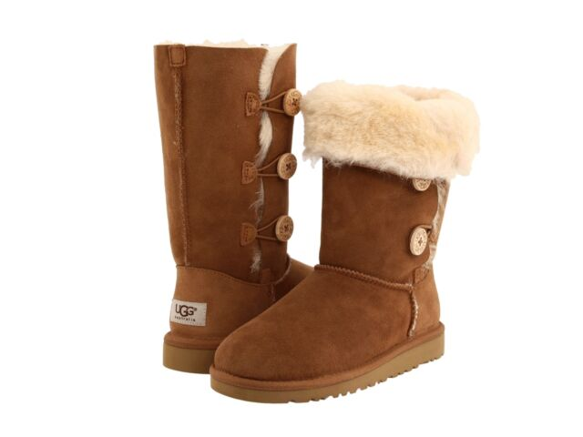 ad035bb4783 UGG Australia Womens Bailey Button Triplet Boot Chestnut 1873 Size 6