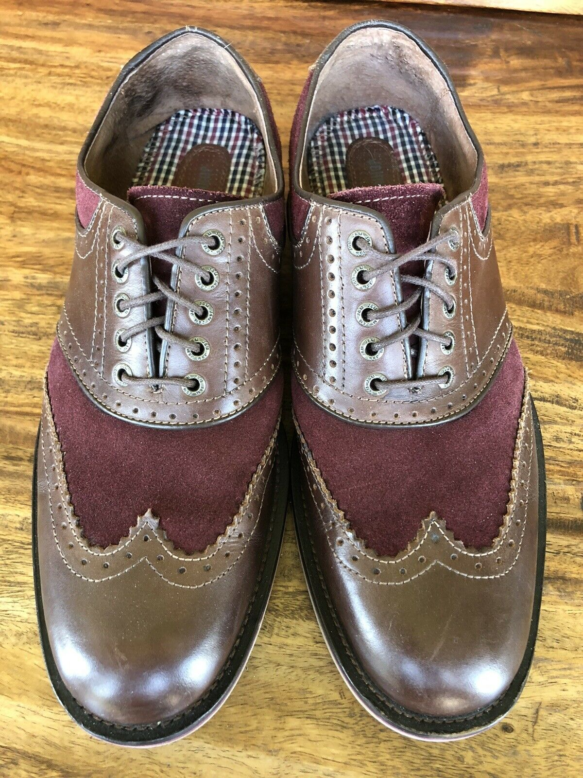 Men's Johnston & Murphy Casual Shoes Brown Burgundy Leather Size 10.5