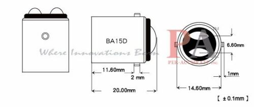 10x T10 194 to BA15D 1142 1004 1076 1130 1158 1176 Transformer Bulb Socket Base