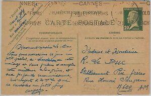 Cinema Special Postmark On Postcard 1967 Cannes Postal History France