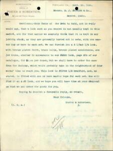 1890 Portland Oregon (OR) Letter Foster & Robinson