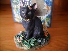 Faerie  Glen Faerie Tails Fairy Cat Figurine Black Cat Mystiqu Boxed
