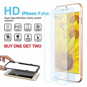Pack-of-3-High-Clear-Tempered-Glass-Film-9H-Screen-Protector-iPhone-7-Plus-5-5-034