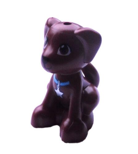 sitzend Neu puppy dog 27986pb01 Lego junger Hund Welpe braun reddish brown