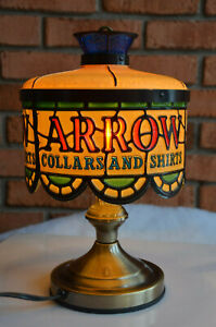 WORKING-Vintage-TRI-LIGHT-Touch-Lamp-ARROW-SHIRTS-COLLARS-Retirement-Gift