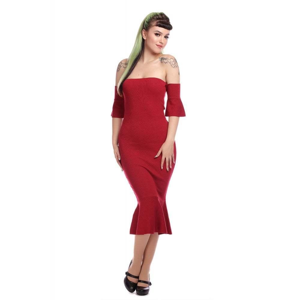 Collectif Vintage Teagan Plain Knitted Dress UK10
