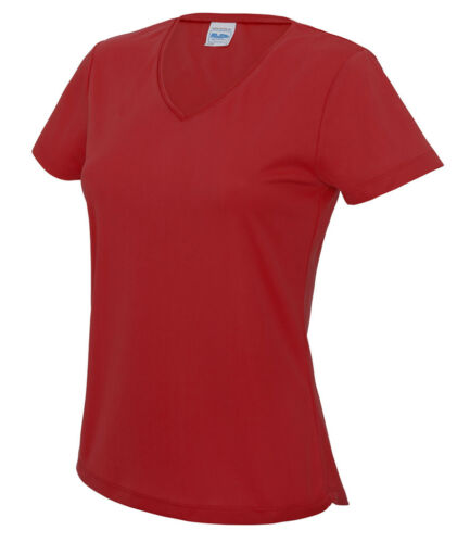 UV Protection Many Colours AWDis Just Cool Girls V NECK WICKING T-SHIRT UPF 30