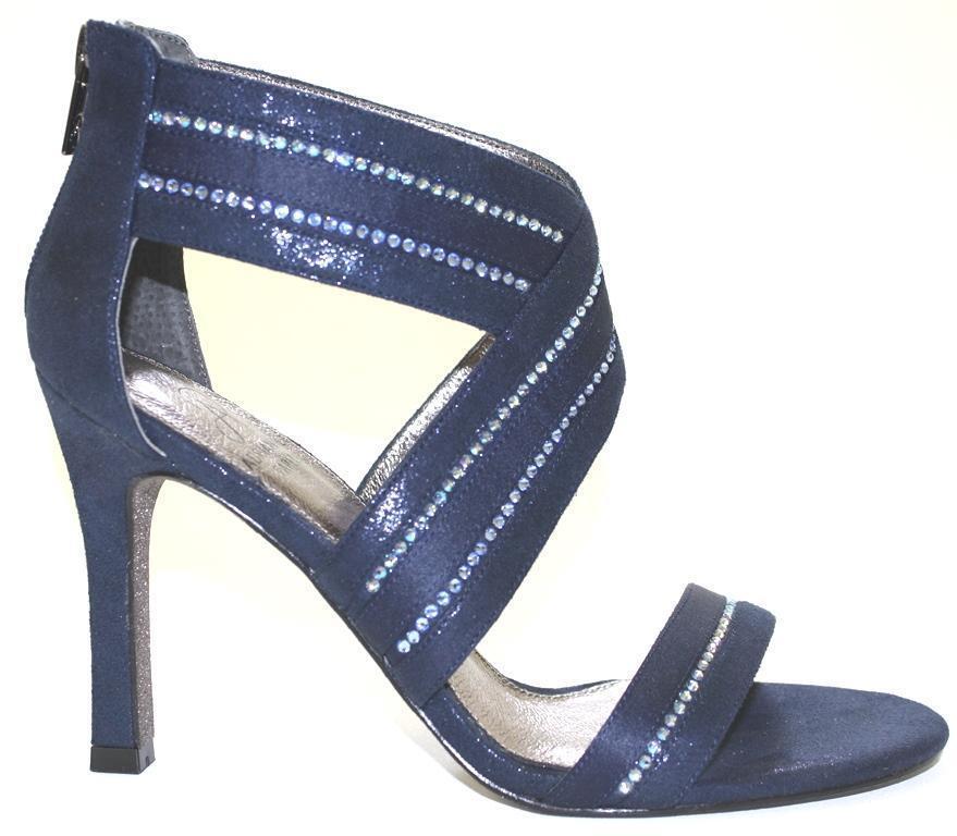 prezzo ragionevole Donna  scarpe Adrianna Papell Papell Papell EVONNE Evening Sandals Rhinestones Midnight Navy  grande vendita