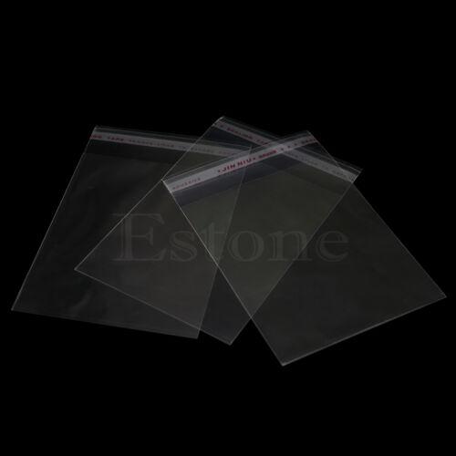 "10x15cm 3.94/""x5.91/"" OPP Clear Jewelry Packaging Self Adhesive Plastic Bag 100pcs"