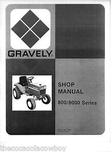 gravely models 800 8000 series tractors service manual 810 812 816s 817 8177 etc ebay