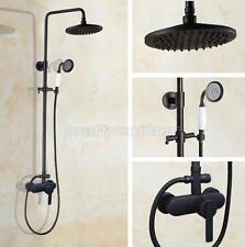 Black Oil Rubbed Brass Bathroom Rain Shower Faucet Set Bath Tub Mixer Tap Krs607