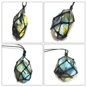 Wrap-Women-Mens-Crystal-Moonstone-Labradorite-Pendant-Natural-Stone-Necklace