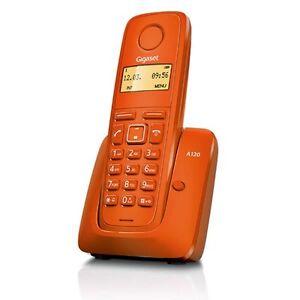 TELEFONO-SIEMENS-GIGASET-A120-NARANJA