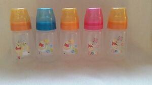 DISNEY STORE,WINNIE THE POOH 250ml Feeding Bottles, Baby/ Doll Fake Formula,Gift