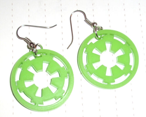 80s Super Star Wars Imperial Logo charm Pendientes Kitsch Kawaii Fancy