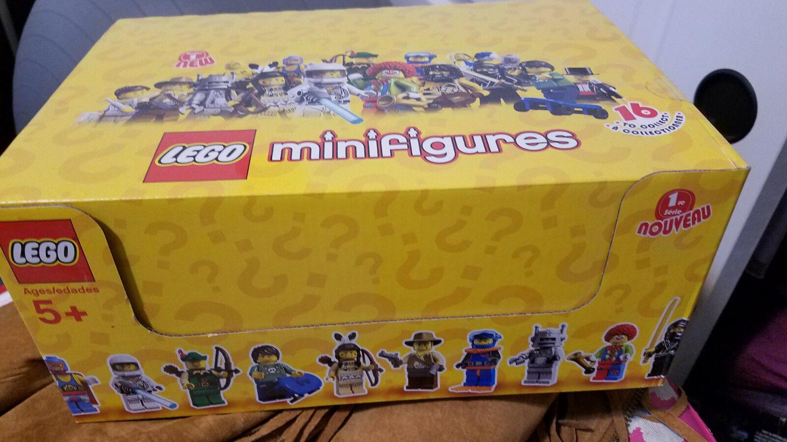 New Factory Sealed LEGO 8683 Box Box Box Case of 60 Minifigures Series 1 15b913