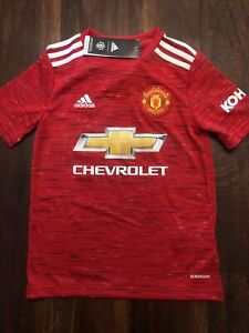 New Adidas Youth Manchester United Football Club Soccer Jersey Size Kids Medium
