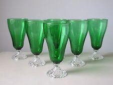 Anchor Hocking Burple Green Iced Tea Glasses, Set of (6), Vintage