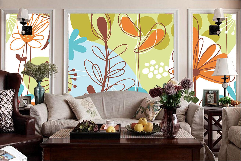 3D Die Linien der blumen 1304 Fototapeten Wandbild Fototapete BildTapete Familie