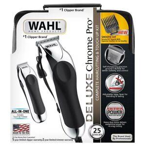 wahl deluxe chrome pro complete 25 piece men's haircut kit