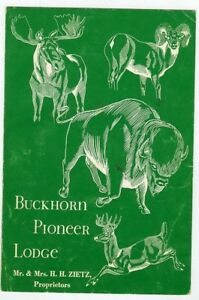 Older Menu-Denver Colorado-Buckhorn Pioneer Lodge-Zietz Family Proprietors