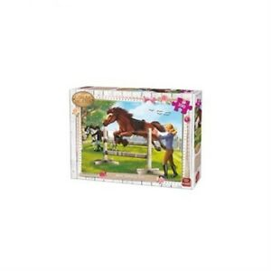 King-Kng05295-Girls-And-Horses-Show-Jumping-Time-Puzzle-100-piece-100pc