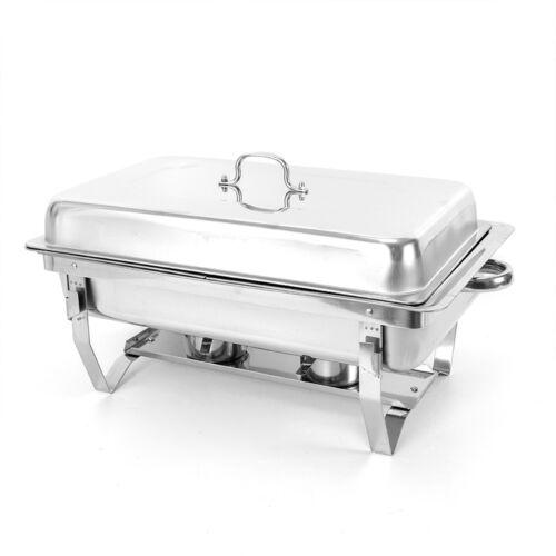 7,5L Chafing Dish Speisenwärmer Warmhaltebehälter 2x1//2GN Behälter Aus Edelstahl