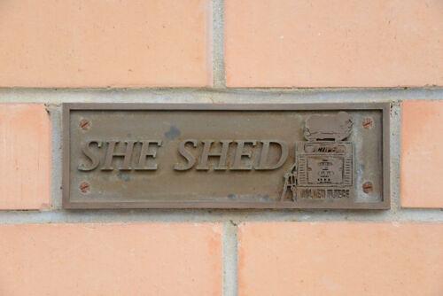 "Featuring Golden Fleece Wayne 605 Bowser /""SHE SHED/"" Gas Pump NEW Wall Plaque"