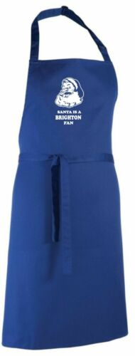 Santa is a Brighton Fan Christmas Apron.Secret Santa Gift