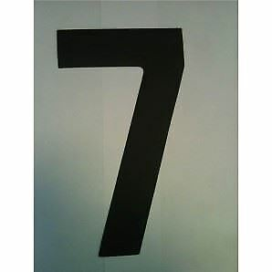 """9"""" Standard Style Race Number No.7 in Black Sold Each"""